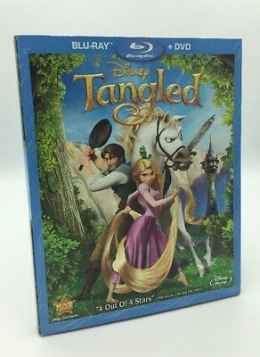 Tangled (Blu-ray+DVD, 2011) NEW w/  Rare OOP Slipcover  - 100% Authentic Disney