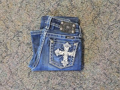 Pre-Owned Girls Size 14 Boot Cut Miss Me Jeans (WF)