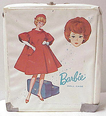 Barbie Vintage 1963 Doll Case Red Dress Barbie White Case For Its Teen-Age Dolls
