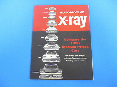 Vintage 1958 American Motors Ambassador X-Ray Comparison Book Catalog Olds Edsel