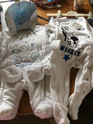 Baby Snowsuit 3-6 Months and mickey sleepsuit 3/6 months