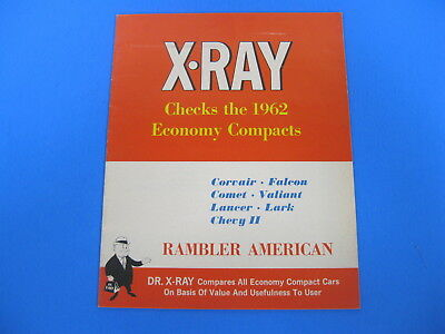 Vintage 1962 American Motors Rambler X-Ray Comparison Book Catalog Ford Chev