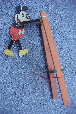 Vintage Mickey Mouse On Trapeze Toy