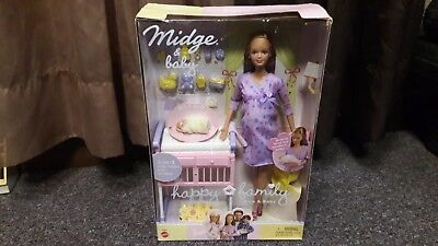 Mattel Barbie Happy Family Midge & Baby Doll Set Pregnant Mommy and Baby #56663