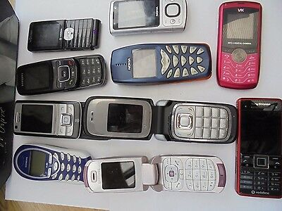 job lot 10 pcs mobile phones untested spares repairs faulty