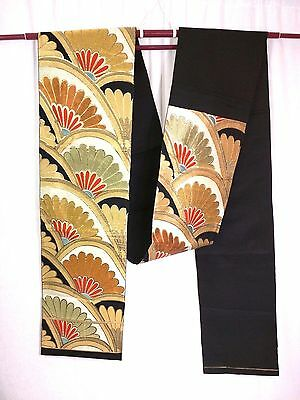 KIMONO OBI Belt - Immaculate Traditional Japanese Vintage Import Embroidered