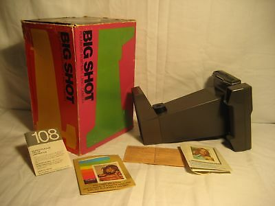 """Vintage Big Shot Polaroid Camera With Box & Papers """"look"""""""