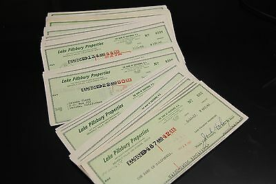Jack Haley Wizard of Oz Tin Man signed cancelled checks - LOT of #10