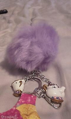 primark beauty and the beast keyring rare mrs potts chip disney