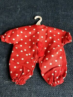 Vintage Vogue Doll Outfit Ginnette Red with White Polka Dots No Tagged Pajamas