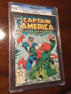 Captain America 300 Cgc 9.8 Death Of Red Skull! Mike Zeck Cover! Gorgeous!