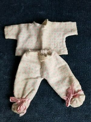 Vintage Vogue Ginnette Doll Clothes Pajama 2 Piece Set Flannel Tagged