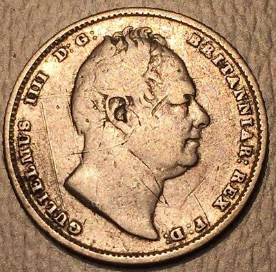 GREAT BRITAIN SILVER SIX PENCE 1834 England