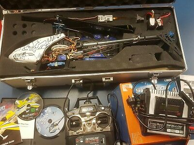 RC helicopter 6ch copter X 450 RTF + real flight 6.5 flight sim + hele mega pack
