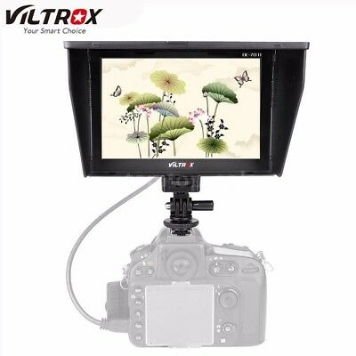 "VILTROX DC70Ⅱ 7"" LCD HD Video Monitor HDMI AV for DSLR + 2 Batteries and Charger"