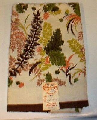 1960's,Vintage,Hardy Craft,Handprinted,Fern,Tablecloth,Mint Unused Condition!