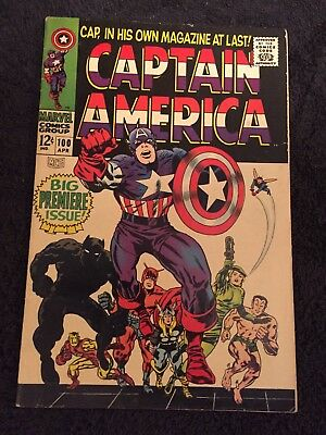 Marvel Captain America #100 1968, Awesome Condition!!!