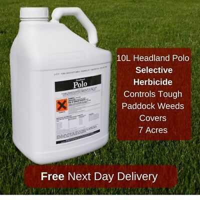 10L Headland Polo Paddock Weed Killer Safe To Grass Kills Ragwort