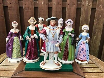 Sitzendorf King Henry Viii & Six Wives Complete Set - German Dresden