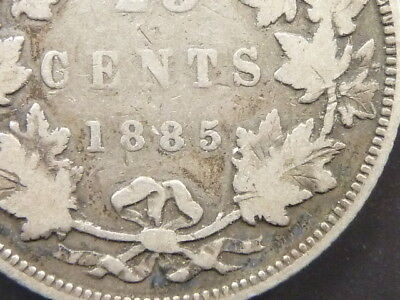 1885 Canada 25 Cent   Quarter   Low Mintage