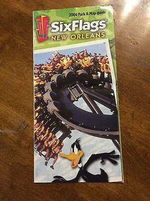 2004 Six Flags New Orleans Park & Map Guide