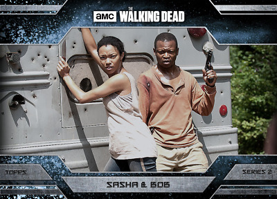 Topps Walking Dead Allegiance Series 2 Sasha and Bob Stookey ICE VARIANT