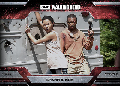 Topps Walking Dead Allegiance Series 2 Sasha and Bob Stookey MAGMA 100cc
