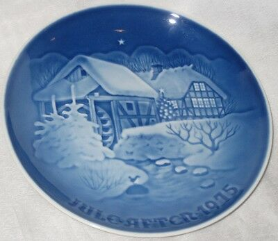 Vintage Bing and Grondahl Blue and White Porcelain Plate 1975 Christmmas Plate
