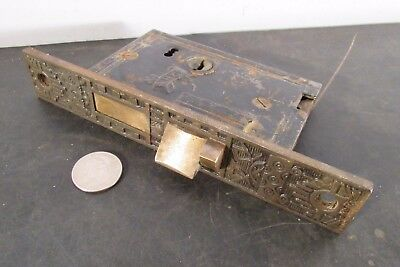 Antique Victorian Reading Hardware Co commercial lever entry door mortise lock