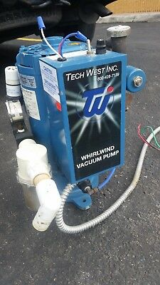 Tech West VPL3SS Whirlwind Dental Wet-Ring 1.5 HP Vacuum Suction Pump 115/230v