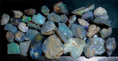 100 Cts #971 Opal Rough And Rough Rubs From Lightning Ridge Australia