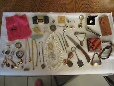 Mixed Lot of Mens & Womens Jewelry Vintage 40's to 80's