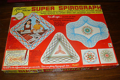 Vintage 1967 Kenner's no 2400 SUPER SPIROGRAPH 99% COMPLETE plus Instructions