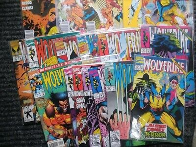 wolverine lot of 19 assorted comics (marvel,1990-1997) very fine condition