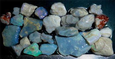 100 Cts #972 Opal Rough And Rough Rubs From Lightning Ridge Australia