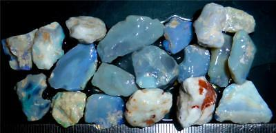 100 Cts #974 Opal Rough And Rough Rubs From Lightning Ridge Australia