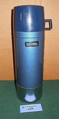 Vintage BLUE King Seeley Metal Coffee Thermos