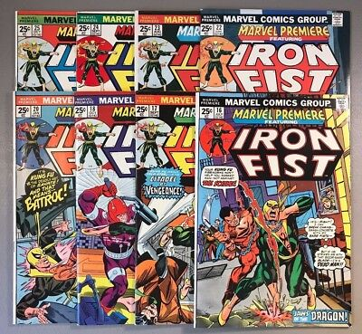 Marvel Premiere featuring Iron Fist ~ 16 17 18 20 22 23 24 25 ~ Lot of 8