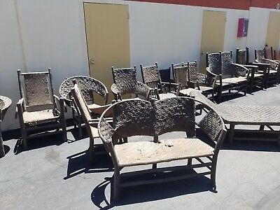 Old Hickory Furniture Set--34 pieces of Original Wicker! (tables, chairs & more)