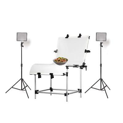 Hypop Professional Food Photography LED Lighting Kit (60cm x 130cm)