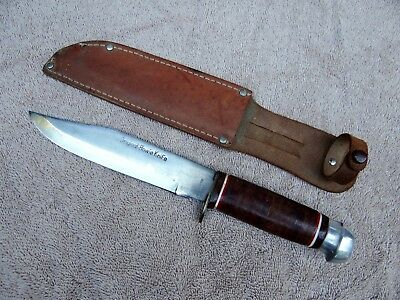 Vintage Japan Japanese Made Original Bowie Fighting Knife w/ Sheath
