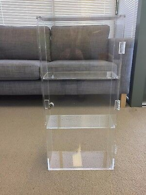 Small Clear Acrylic Display Case - Lockable