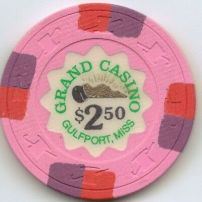 Grand Gulport  Casino - $2.50 Chip - Snapper - Mississippi #3