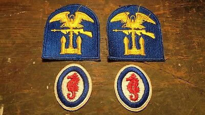 WWII vintage Army Amphibian Units & Engineer Special Brigades patches