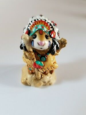 Wee Forest Folk THANKSGIVING M-107 Chief Geronimouse in MINT Condition