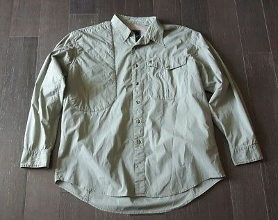 Browning Gold Shirt XL Mens Padded Shoulder Hunting Shirt Beige Fishing Shooting