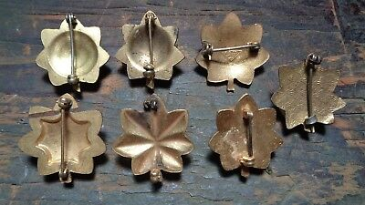 WWII vintage lot of 7 U.S. Army Officers Major rank insignia device pins