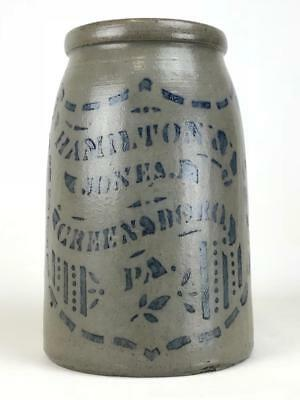 Nice Hamilton and Jones canner. Great crisp stencil with good contrast.