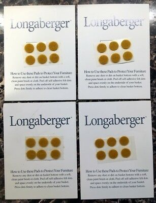 24 Longaberger FELT DOTS 3/8 CLASSIC Stain Protector Pads for Baskets