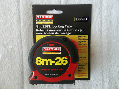 NEW CRAFTSMAN 8m/26' LOCKING TAPE X2.